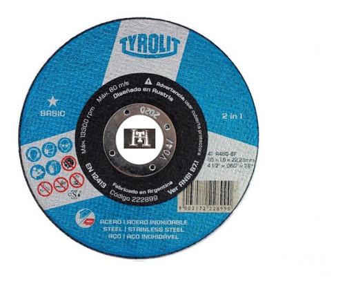 disco corte tyrolit basic 114 x 1,6 mm caja x 25 un