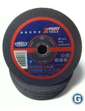 disco corte tyrolit  xpert 178 x 1,6 mm caja x 25 un gramabi amoladora 7 plano 178x1,6 hierro 180x1,6 metal inoxidable