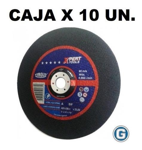 disco corte tyrolit  xpert 230 x 1,9 mm caja x 10 un gramabi amoladora 9 plano 230x1,9 hierro 180x2 metal inoxidable