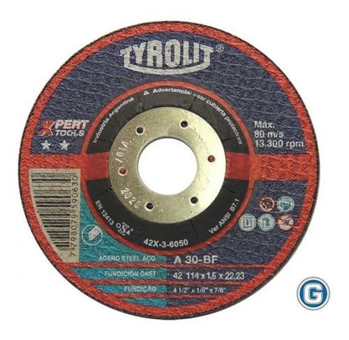 disco corte tyrolit  xpert de 114 x 1,6 mm gramabi amoladora 4 1/2 plano 115x1,6 hierro 114x1,6 metal inoxidable