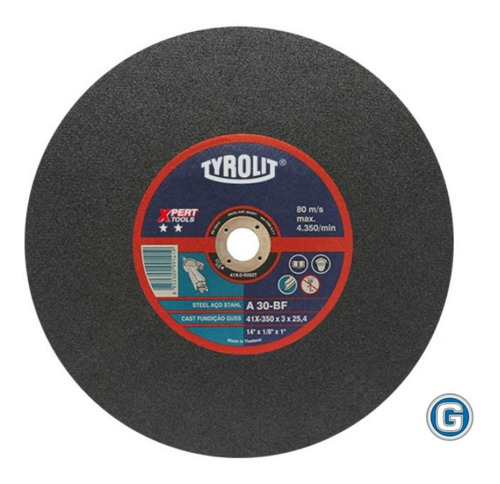 disco corte tyrolit  xpert de 350 x 3 mm caja x 5 un gramabi sensitiva 14 plano 355x3 hierro 350x3 metal inoxidable