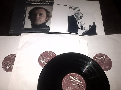 disco cuádruple de vinilo - sinfonías de rachmaninoff