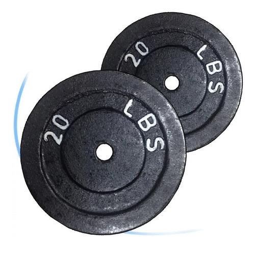 disco de 20lb hierro para mancuerna-barra- pesa gym 2.5cm di