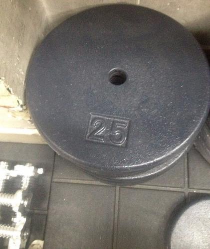 disco de 25 libras en hierro para pesas mancuernas barras
