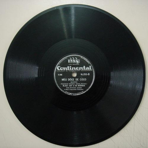 disco de 78 rpm - continental 16.255 - black-out