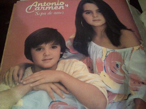 disco de acetato de antonio y carmen, sopa de amor