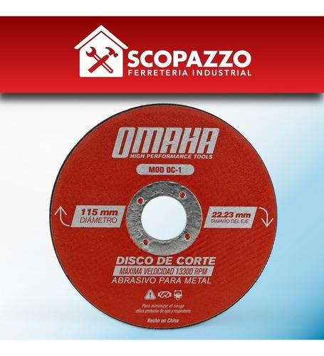 disco de corte 115 x 1mm x 30 unidades p/ metales omaha