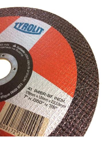 disco de corte 115x1,0x22,2 a60rbf inox 10un