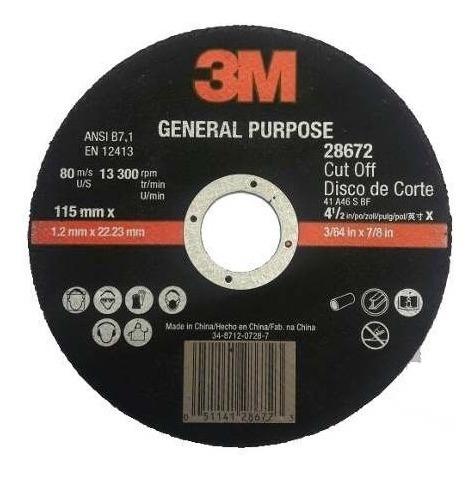 disco de corte 3m 115 1,2mm gr46 l25