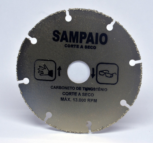 disco de corte carboneto tungstênio 110 x 20 x 2 mm sampaio
