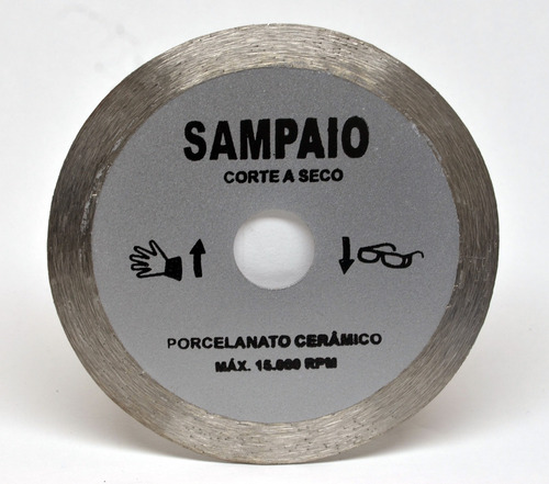 disco de corte cinza liso 110 x 20 x 1.8 mm sampaio