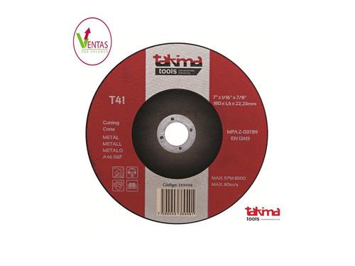 disco de corte ctro depr 4 1/2(paq 5 un) (mayor)