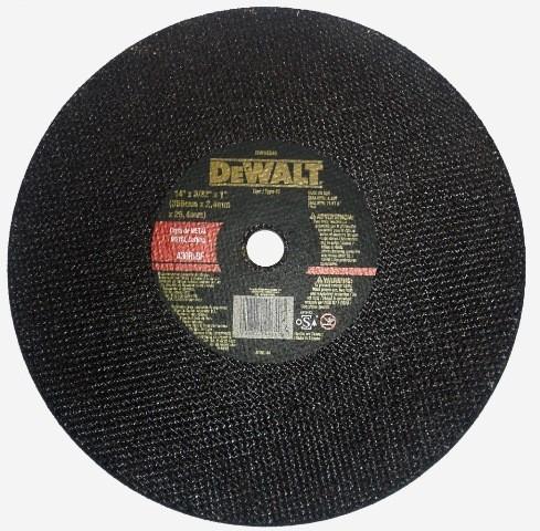 disco de corte de 14 dewalt