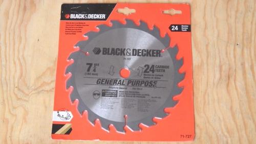 disco de corte de 7-1/4  black & decker