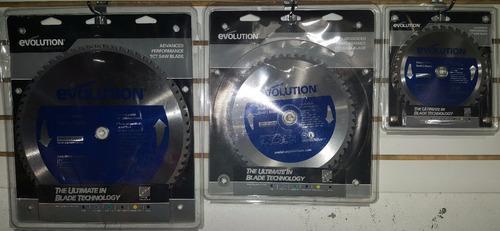 disco de corte de acero, marca evolution, 7 1/4 in, 185 mm