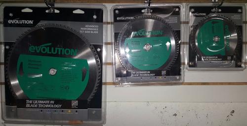 disco de corte de aluminio, marca evolution, 7 in, 180 mm