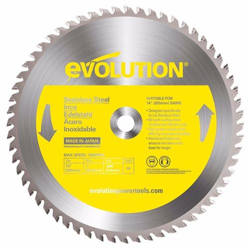 disco de corte de inoxidable, marca evolution, 14 in, 355 mm