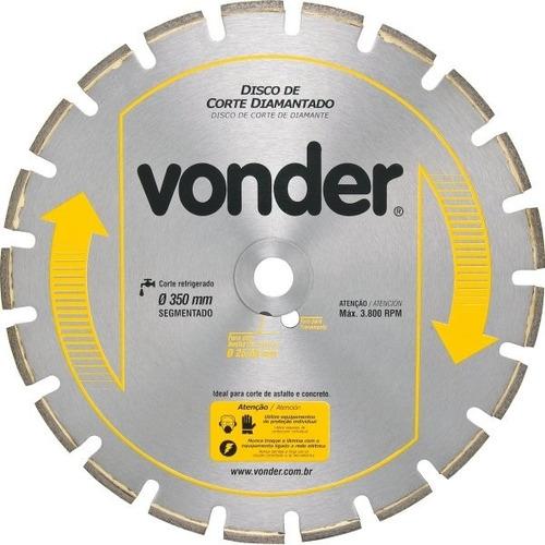 disco de corte diamantado 350mm concreto e asfalto promoção
