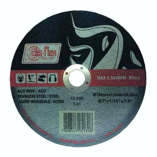 disco de corte extra fino inox 7  disflex série ouro
