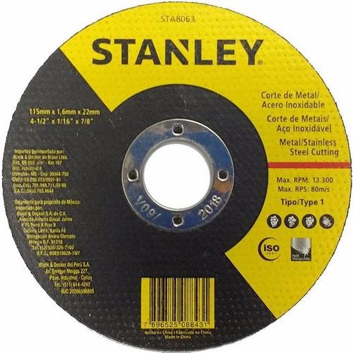 disco de corte extra fino stanley 4.1/2