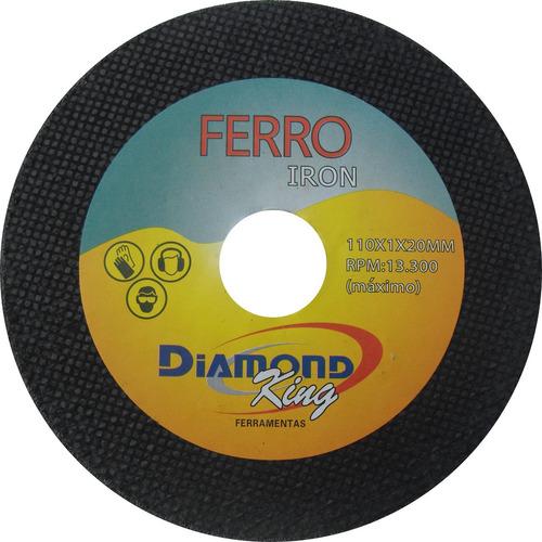 disco de corte ferro 4.1/2 x 7/8 x 1,0mm (fino) caixa com 50