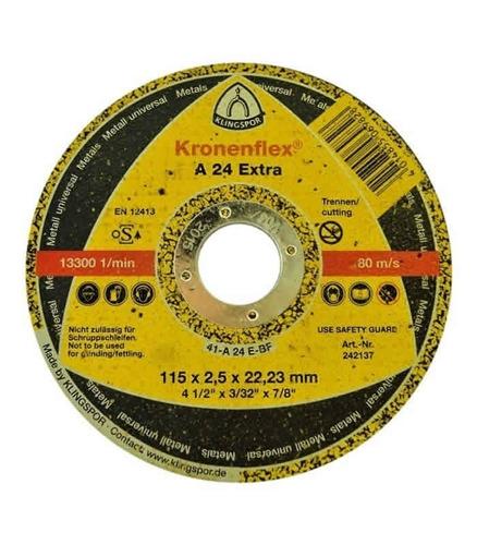 disco de corte kronenflex a 24 extra klingspor 4 - 100 unid.
