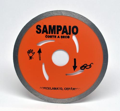 disco de corte laranja liso 110 x 20 x 2 mm sampaio