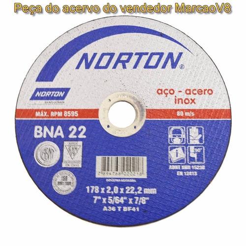 disco de corte norton p aço bna 22 7   2.0 mm x 5/64  x 7/8