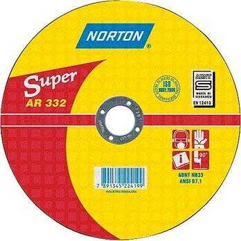 disco de corte para inox 4.1/2x3,0x7/8' ar332 norton