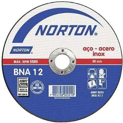 disco de corte para inox 7x1,6x7/8' bna 12 norton