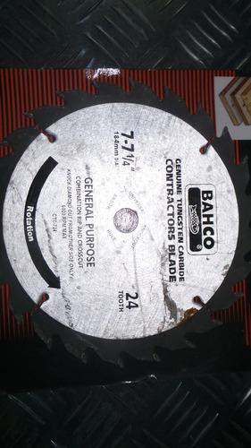 disco de corte para madera bahco