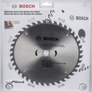 disco de corte para madera bosch 7 1/4 pulgadas 60 dientes