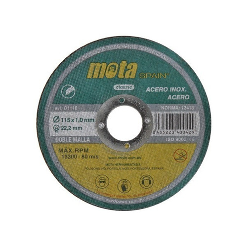 disco de corte para metales 115 x 1,0 mm para amoladora mota