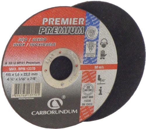disco de corte premier premium 4 1/2 caja x 25 un