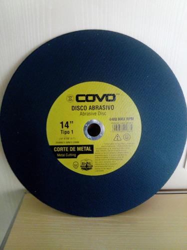 disco de corte tronzadora 14 x 1/8 x 1 pulg. marca covo