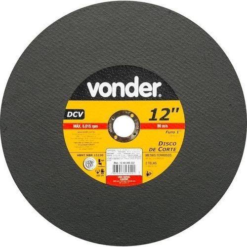 disco de corte vonder dcv policorte 12 polegadas 1 pç
