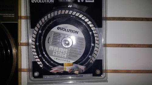 disco de diamante, marca evolution, 7 1/4 in, 185 mm