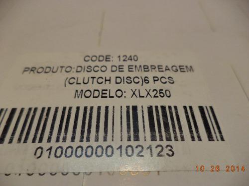 disco de embreagem honda xlx 250 (jogo 6 discos)