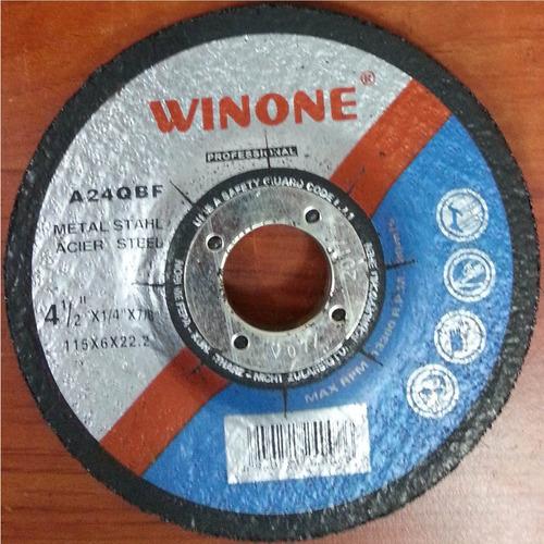 disco de esmerilar 4½ x 1/4 x 7/8 winone a24qbf