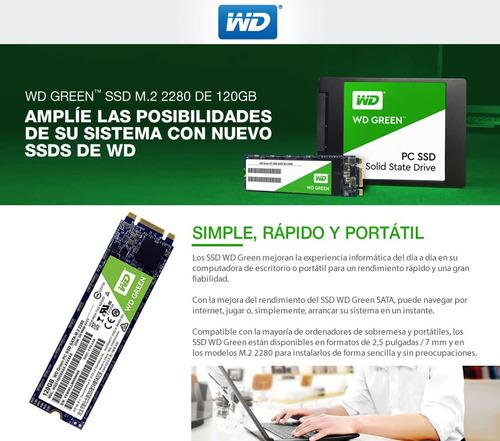 disco de estado solido ssd wd 120gb m.2 sata 3 green