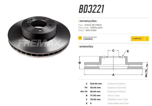 disco de freio dianteiro bmw  530  e60  e61   05/...
