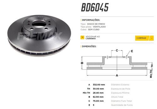 disco de freio dianteiro bmw  x5  3.0i  4.4i  530d