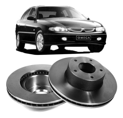 disco de freio dianteiro gm omega (296,00mm 5 furos) (par)