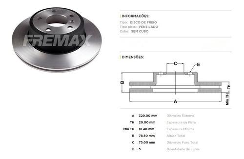 disco de freio traseiro bmw x6 xdrive 35i - marca fremax