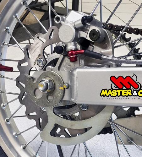 disco de freio traseiro crf230 completo + cubo master e cia