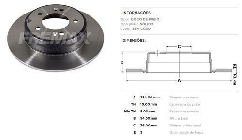 disco de freio traseiro hyundai azera 3.0 - marca fremax