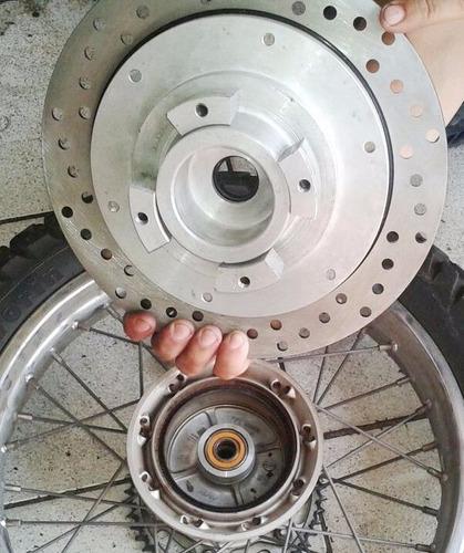 disco de freio traseiro nxr / crf230 / xr / xlr c/adaptador