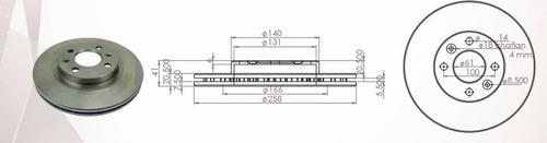 disco de freno renault clio logan megane sandero symbol 18