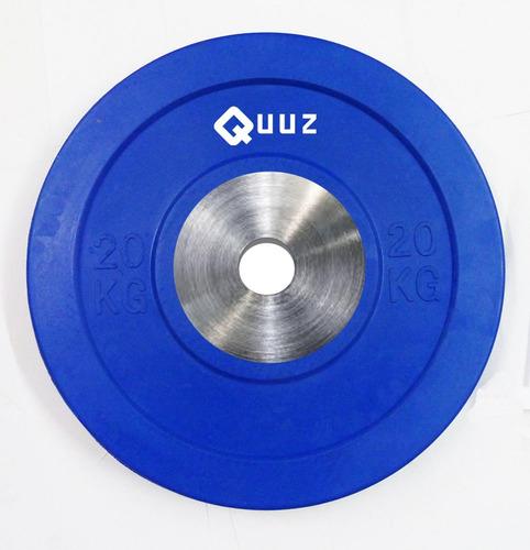 disco de goma bumper olimpico crossfit 20 kg importado acero