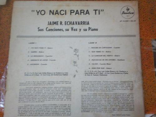 disco de jaime r echavarría (años 60) de sonolux